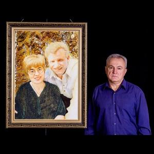 Портрет из янтаря знаменитых людей; размер портрета из янтаря: 60 х 80 см.