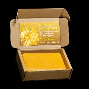 Мыло из янтаря. Натуральное мыло ручной работы: вес янтарного мыла - 100 г. Цена мыла из янтаря - 100 грн. Экологически чистый продукт в картонной упаковке.