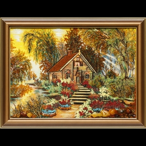 Картина украинский домик