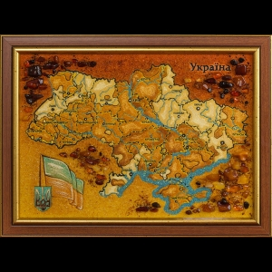 Карта Украины из янтаря