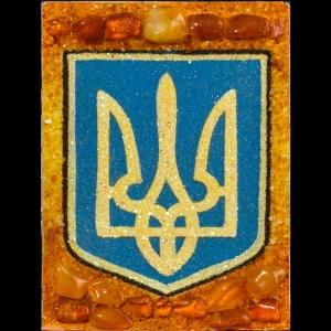 Янтарный герб Украины