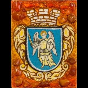 Герб Киева из янтаря