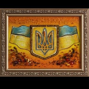 Картина герб и флаг Украины