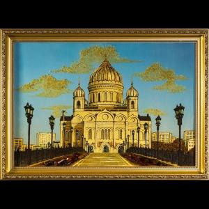 Виды Москвы. Храм Христа Спасителя. 40х60 см.