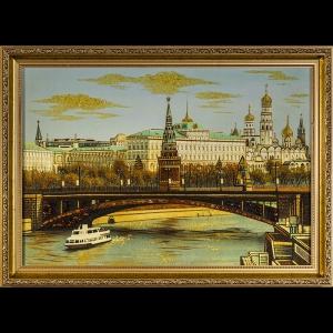 Картина виды Москвы. Москва река. 40х60 см.