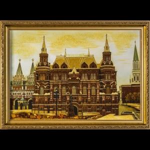 Картина вид Москвы. Государственный исторический музей. 40х60 см.