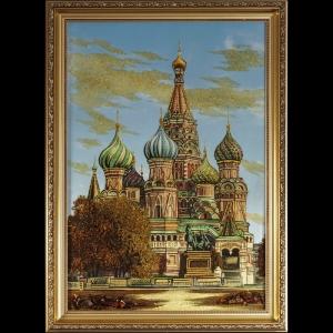 Вид Москвы. Храм Василия Блаженого. 60х40 см.
