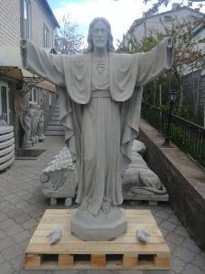 Создание скульптуры Святых : статуя Иисуса Христа, Богородицы, ангелов для памятников и голубей - как символ души человека.