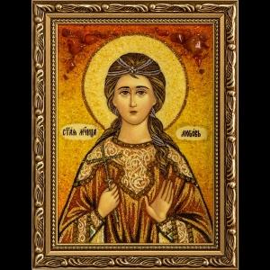 Икона из янтаря Святой Любви