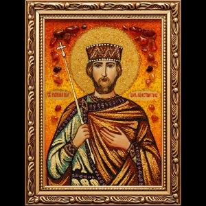 Икона из янтаря Св. Константин