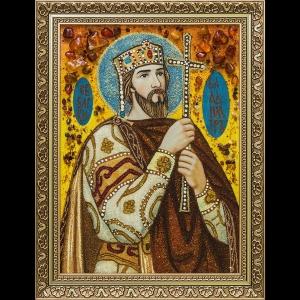 Икона из янтаря Святого Владимира