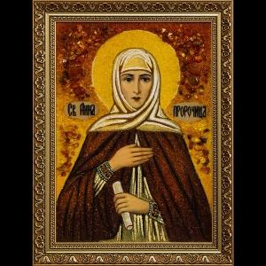 Икона из янтаря Святой Анны