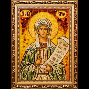 Икона из янтаря Святой Дарьи