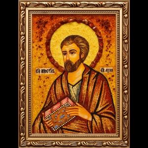 Икона из янтаря Св. Луки