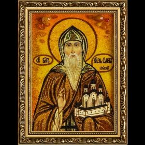 Икона из янтаря Святого Олега