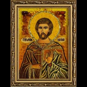 Икона из янтаря Святого Евгения