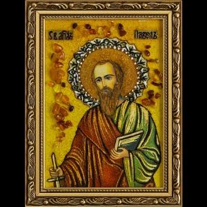 Икона из янтаря Св. Павла