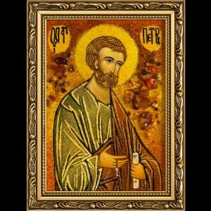 Икона из янтаря Святого Петра