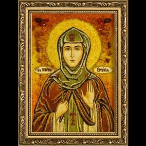 Икона из янтаря Святой Евгении