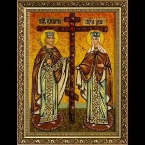 Икона из янтаря Святой Елены и Константина