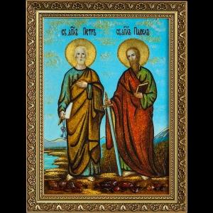 Икона из янтаря Святых Петра и Павла