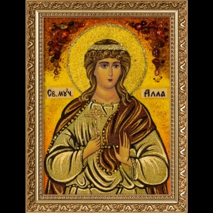 Икона из янтаря Святой Аллы