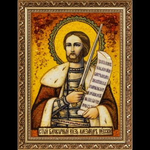 Икона из янтаря Святого Александра