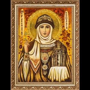 Икона из янтаря Святой Ольги