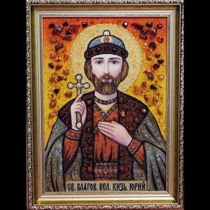 Икона из янтаря Святого Юрия