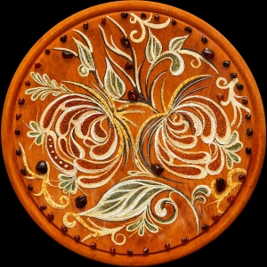 Тарелка из янтаря
