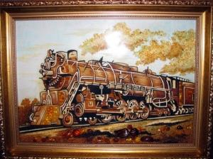 Картина паровоз
