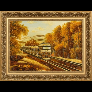 Картина поезд