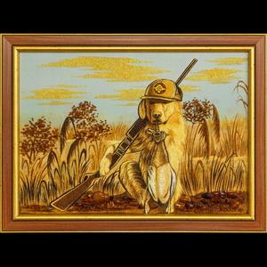 Картина собака на охоте