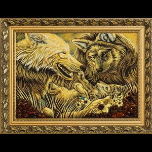 Картина волчья семья