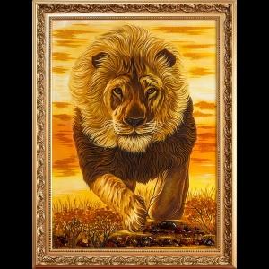 Картина лев на охоте