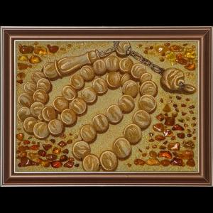 Картина четки из янтаря