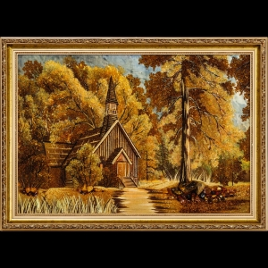 Картина Домик в лесу