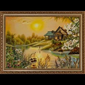 Картина Домик у озера