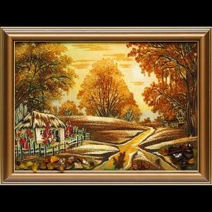 Картина утро в деревне