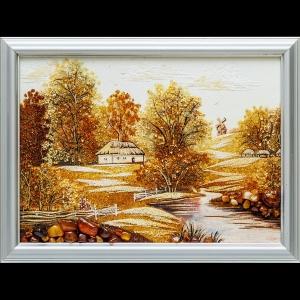 Картина из янтаря: Украинский пейзаж