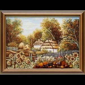 Янтарная картина: Украинский пейзаж