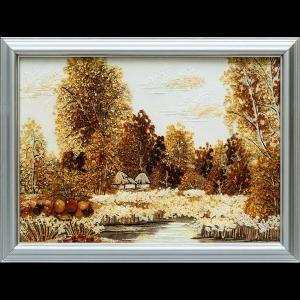 Картина из янтаря украинский сельский пейзаж