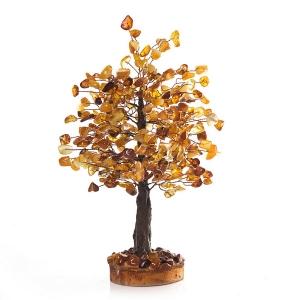 Янтарное дерево, подарок - на удачу