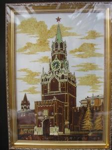Вид Москвы. Спаская башня. 60x40 cm.