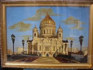 Виды Москвы. Храм Христа Спасителя. 40x60 cm.