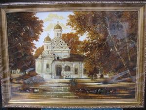Виды Москвы. Храм Живоначальной Троицы. 40x60 cm.