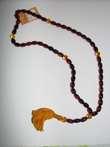 Христианские чётки из цельного калиброванного янтаря на 53 бусины