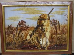 Картина охота (30 х 40 см)