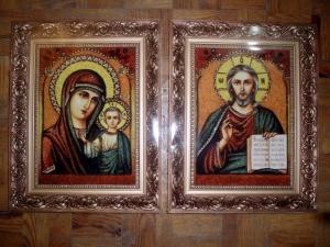 Продажа свадебных икон из янтаря