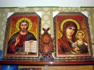 Заказать свадебные иконы из янтаря